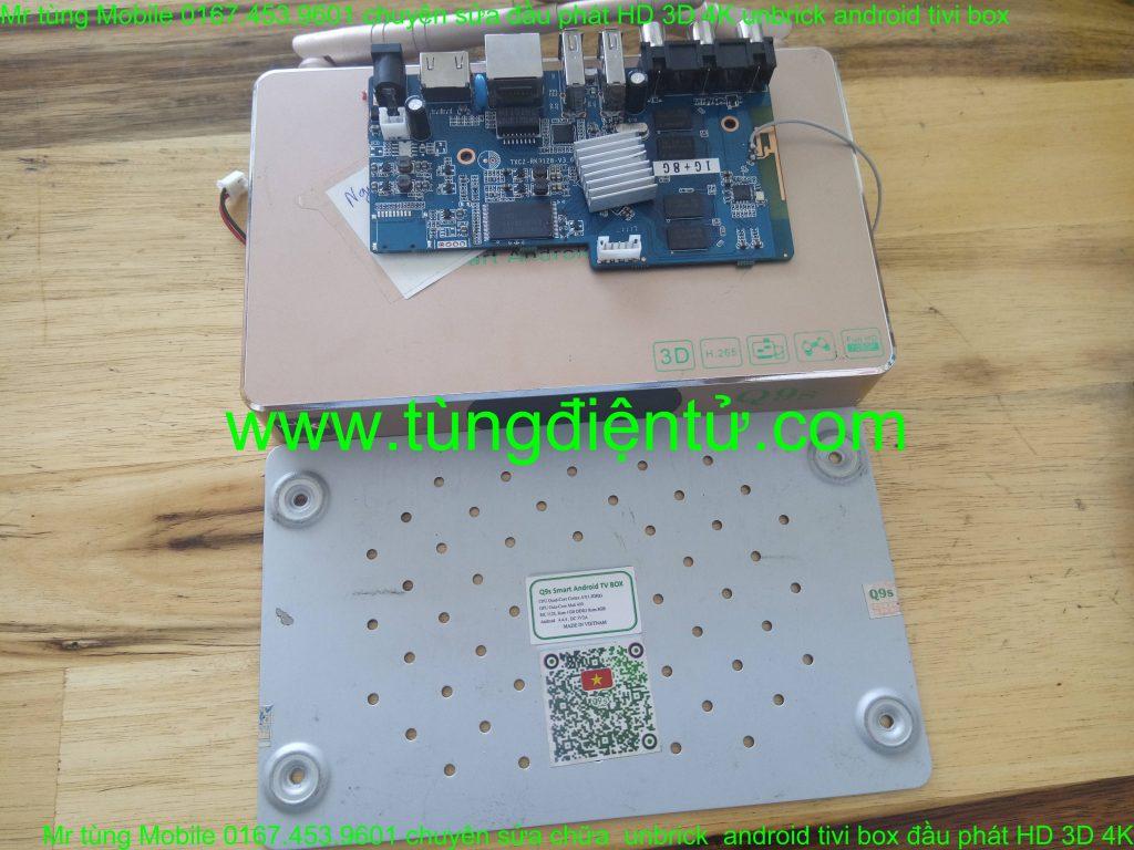 Sửa android box q9 q9s a9 a12... treo logo không lên nguồn www.tungdientu.com mobile 0167.453.9601