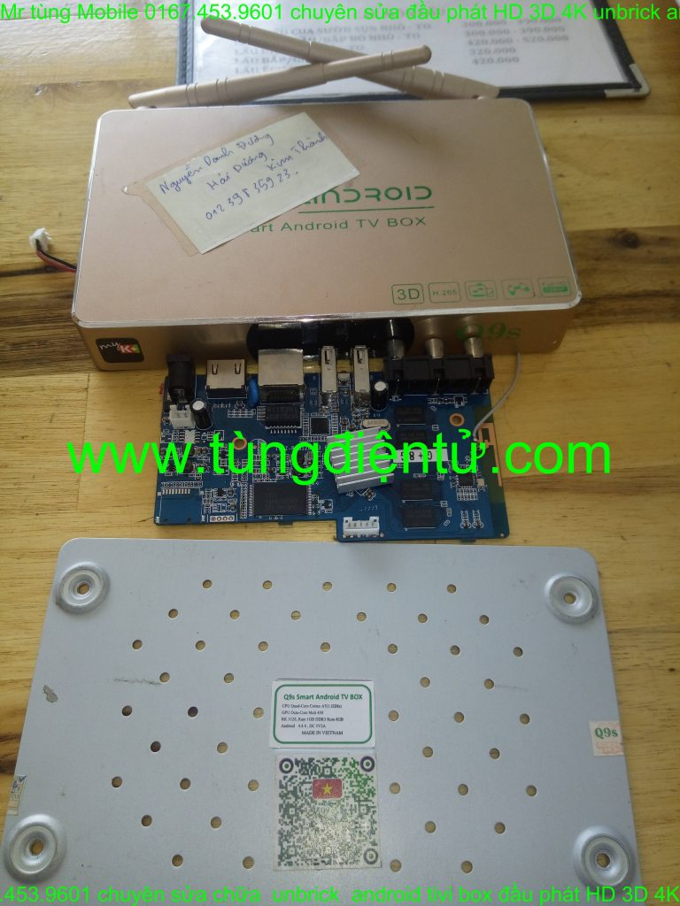 Sửa android box q9 q9s a9 a12... treo logo không lên nguồn www.tungdientu.com mobile 0167.453.9601 (1)